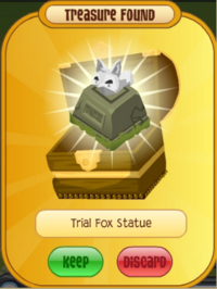 Trial Fox Statue