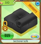 Section Sofa Black Backwards