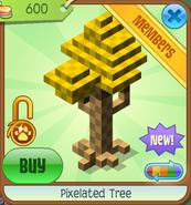 Shop Pixelated-Tree Yellow