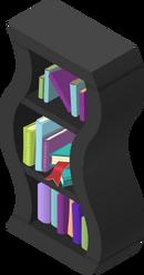 Wavy Bookshelf Black
