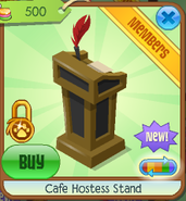 Cafe hostess stand 5