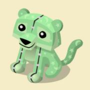 Item Exclusive Tiger Plushie green