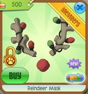Tan Reindeer Mask