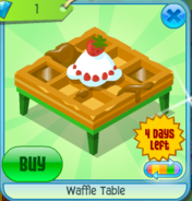 Waffle Table Green