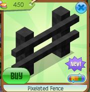Pixelated fence 6