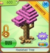 Shop Pixelated-Tree Pink
