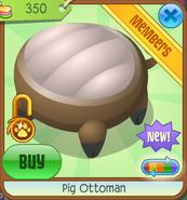 Shop Pig-Ottoman Brown