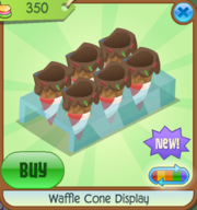 Waffle Cone Display red