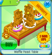 Waffle Feast Table Red