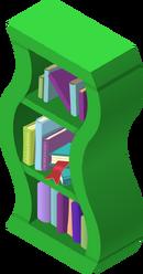 Wavy Bookshelf Green