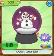 Dark Pink Snow Globe Hat
