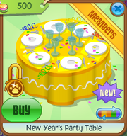 New-Years-Shop New-Years-Party-Table Yellow