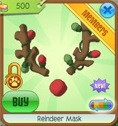 Brown Reindeer Mask