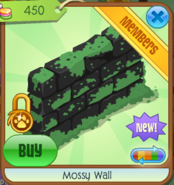 Mossy Wall black