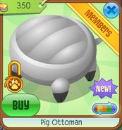 Shop Pig-Ottoman White