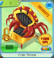 Crab Throne Black