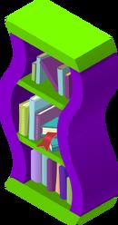 Rare Wavy Bookshelf