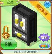 Shop Pixelated-Armoire Black