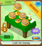 Cafe pie display 2