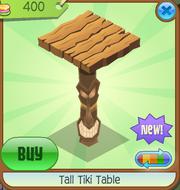 Tall Tiki Table Wood