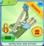 Spring Bow and Arrows