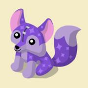 Item Exclusive Fox Plushie purple-star