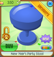 New-Years-Shop New-Years-Party-Stool Blue