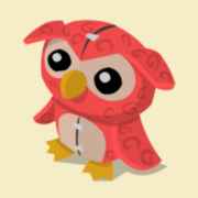 Item Exclusive Owl Plushie red