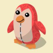 Item Exclusive Penguin Plushie red