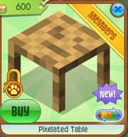 Pixelated Table 1