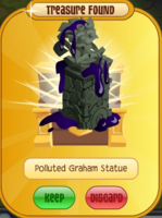 Polluted Graham Cracker Statue