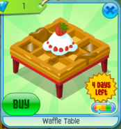 Waffle Table Red