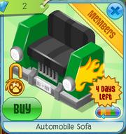 Automobile Sofa Green