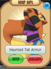 Haunted tail armour