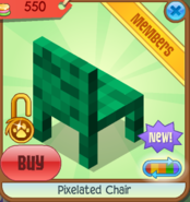 Pixelated Chair green back