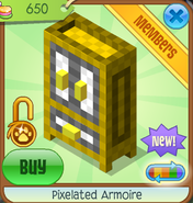 Shop Pixelated-Armoire Yellow