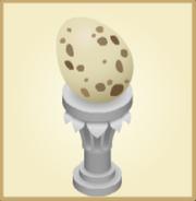 Eggpedestal speckled
