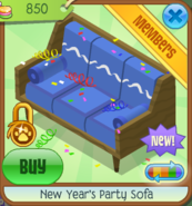 NYS New Year's Party Sofa blue