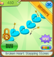 Broken Heart Step Stones Blue