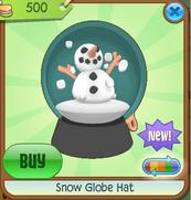Dark Green Snow Globe Hat