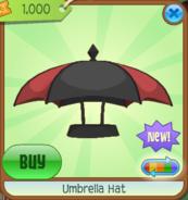 Umbrella Hat black