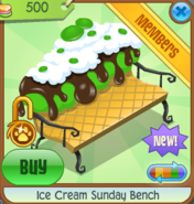 Ice Cream Sunday Bench green