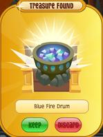 Blue Fire Drum