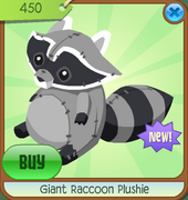 Conservation-Museum Giant-Raccoon-Plushie