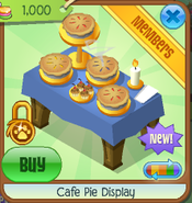 Cafe pie display 1