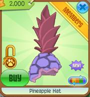 Purple pineapple hat