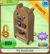 PigBookcaseBrown