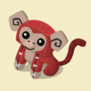 Item Exclusive Monkey Plushie red