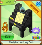Pixelated writing desk 6