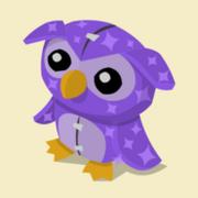 Item Exclusive Owl Plushie purple-star